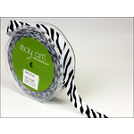 May Arts - Designer Ribbon - Grosgrain Animal Print - Zebra - 30 Yards