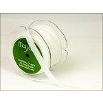 May Arts - Designer Ribbon - Metallic Velvet - White - 30 Yards