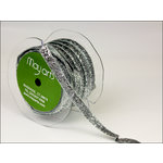 May Arts - Designer Ribbon - Metallic Velvet - Silver - 30 Yards