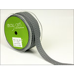 May Arts - Designer Ribbon - Twill Stripes - Black - 30 Yards