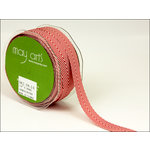 May Arts - Designer Ribbon - Twill Stripes - Red - 30 Yards