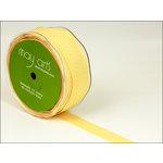 May Arts - Designer Ribbon - Twill Stripes - Yellow - 30 Yards