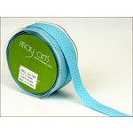 May Arts - Designer Ribbon - Twill Stripes - Turquoise - 30 Yards