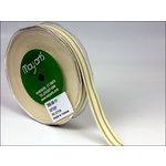 May Arts - Designer Ribbon - Organic Cotton with Stripes - Natural - 30 Yards