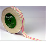 May Arts - Designer Ribbon - Organic Cotton with Stripes - Pink - 30 Yards
