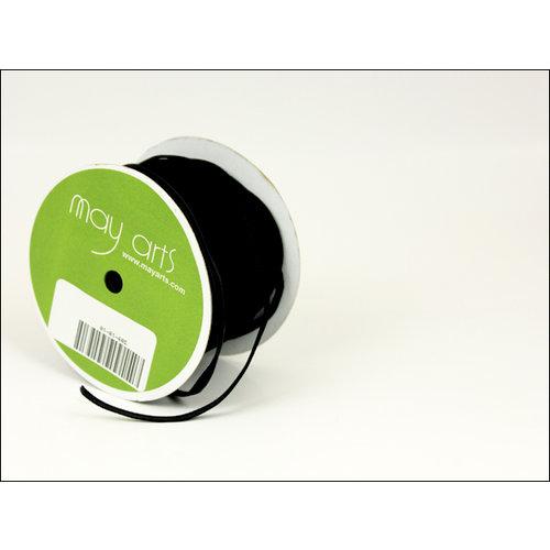 May Arts - Designer Ribbon - Velvet - Black - 50 Yards