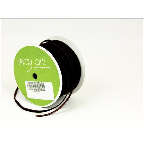 May Arts - Designer Ribbon - Velvet - Brown - 50 Yards