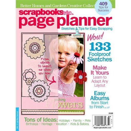 Better Homes And Gardens Scrapbooks Etc Page Planner Sketches