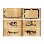 Momenta - Wood Mounted Stamps - Thanks