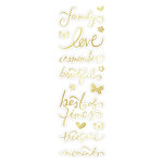 Momenta - Mini Clear Stickers with Foil Accents - Family