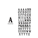 Momenta - Chipboard Stickers - Small - Serif Alphabet - Black