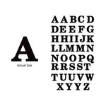 Momenta - Chipboard Stickers - Large - Serif Alphabet - Black