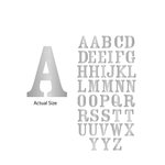 Momenta - Chipboard Stickers with Foil Accents - Large - Serif Alphabet - Silver