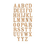 Momenta - Chipboard Stickers with Foil Accents - Large - Serif Alphabet - Gold