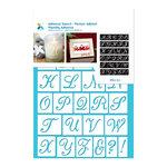 Momenta - Adhesive Stencils - Alphabet - Script