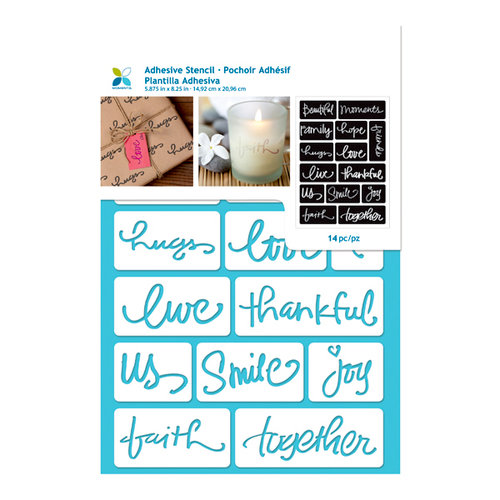 Momenta - Adhesive Stencils - Beautiful Words