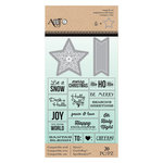 Art-C - Christmas - Die and Clear Acrylic Stamp Set - Star and Christmas Message
