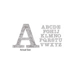 Momenta - Chipboard Stickers with Foil Accents - Large - Serif Alphabet - Distressed Silver