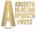 Momenta - Chipboard Stickers with Foil Accents - Extra Large - Sans Serif Alphabet - Gold