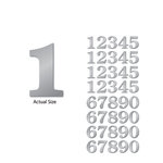 Momenta - Chipboard Stickers with Foil Accents - Large - Serif Numbers - Silver