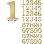 Momenta - Chipboard Stickers with Foil Accents - Large - Serif Numbers - Gold