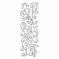 Momenta - Glitter Stickers - Flourishes - Silver