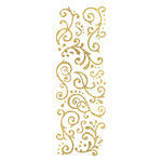 Momenta - Glitter Stickers - Flourishes - Gold