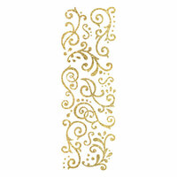 Momenta - Glitter Stickers - Flourishes - Gold