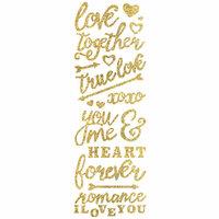 Momenta - Glitter Stickers - Romance - Gold