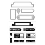 Art-C - Die and Clear Acrylic Stamp Set - Office