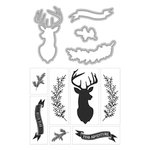 Art-C - Die and Clear Acrylic Stamp Set - Deer