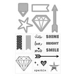 Art-C - Die and Clear Acrylic Stamp Set - Diamonds