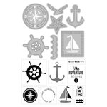 Art-C - Die and Clear Acrylic Stamp Set - Nautical