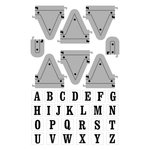 Art-C - Die and Clear Acrylic Stamp Set - Pennant