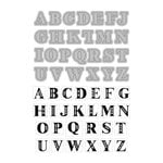 Art-C - Die and Clear Acrylic Stamp Set - Alphabet