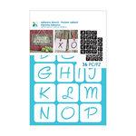 Momenta - Adhesive Stencils - Alphabet - 1 Inch