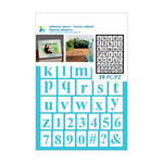 Momenta - Adhesive Stencils - Lower Case Serif Alphabet