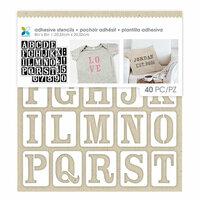 Momenta - Fabric Stencils - 8 x 8 - Uppercase Serif Font Alphabet