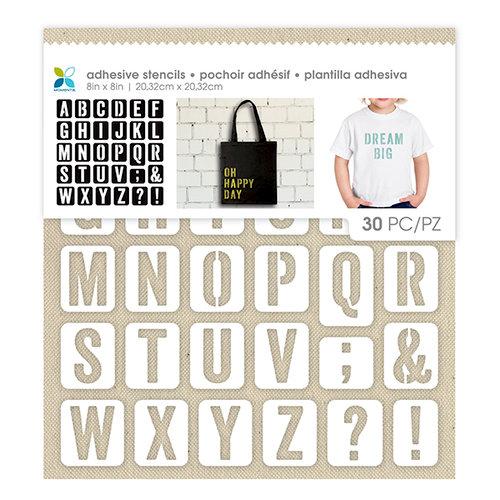 Momenta - Fabric Stencils - 8 x 8 - Uppercase San Serif