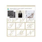Momenta - Fabric Stencils - 8 x 8 - Uppercase Script Font Alphabet