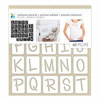 Momenta - Fabric Stencils - 8 x 8 - Uppercase Fun Font Alphabet