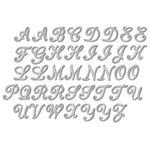 Momenta - Chipboard Stickers with Foil Accents - Alphabet - Silver
