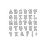 Momenta - Die Cutting Template - Handwritten Alphabet