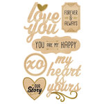 Momenta - Wood Stickers with Foil Accents - Romance