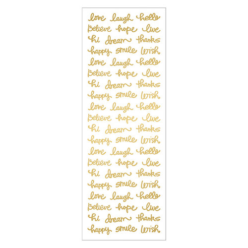 Momenta - Acetate Stickers with Foil Accents - Mini Words