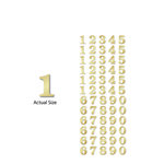 Momenta - Chipboard Stickers with Foil Accents - Small - Serif Numbers - Gold