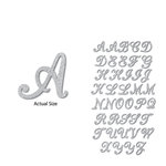 Momenta - Chipboard Stickers with Glitter Accents - Medium - Alphabet - Silver
