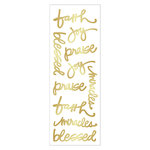 Momenta - Cardstock Stickers with Foil Accents - Faith