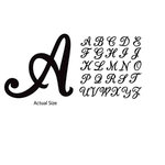 Momenta - Chipboard Stickers - Alphabet - Script - Black