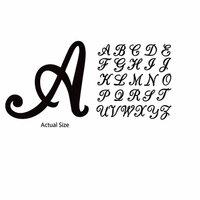 Momenta - Chipboard Stickers - Alphabet - Script - Black